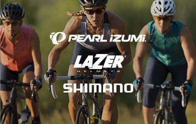 Save on Pearl Izumi, Lazer, Shimano