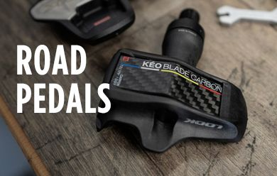 Shop road and tri bike pedals from Time, Look & more